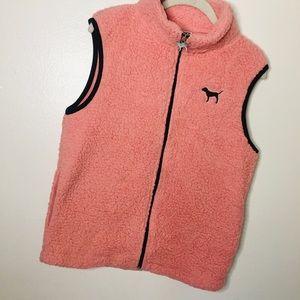Victoria's Secret PINK Full Zip Sherpa Vest Jacket